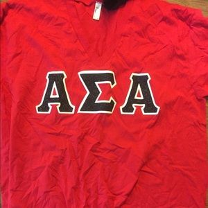 ASA Short sleeve stitched letter shirt